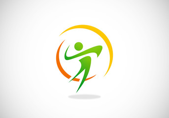 people logo sport fitness vector logo