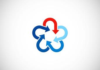 star circle arrow logo vector