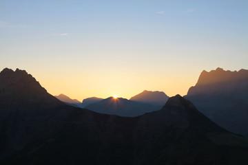 Sonnenaufgang im Karwendelgebirge