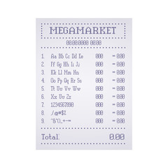 Check out the supermarket template. Vector illustration.