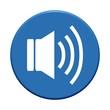 Button rund blau: Lautsprechersymbol
