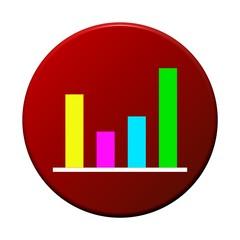 Button rund rot: Säulendiagramm
