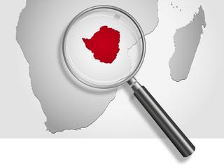 Landkarte *** Afrika Simbabwe