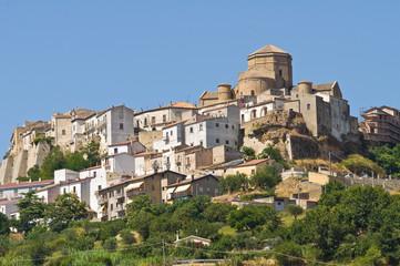 Panoramic view of Acerenza. Basilicata. Italy.