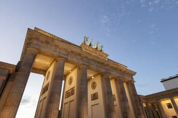 Brandenburger Tor in Berlin am Abend