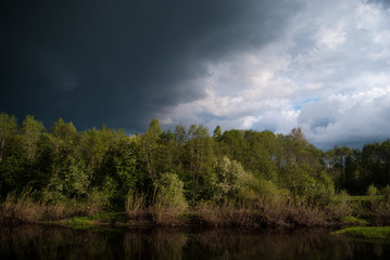 Approaching Storm on the River