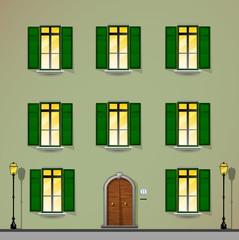 facciata palazzo, edificio, condominio, immobile