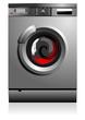 Grey washing machine vector illustration. Home equipment