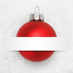 Weihnachtskugel  mit BAnner