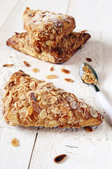 three French puff with ground almonds