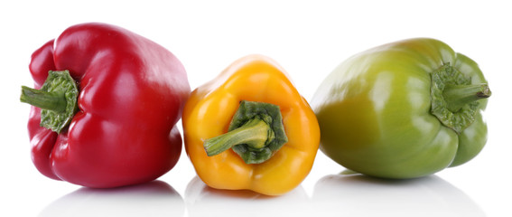 Peppers isolated on white