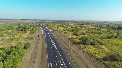 aerial view of the freeway
