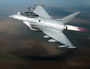 Kampfjet  im Tiefflug