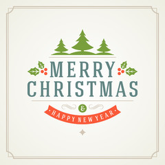 Merry Christmas holidays greeting card vector background