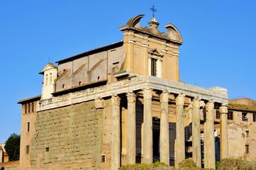 San Lorenzo in Miranda Church in Rome, Italy