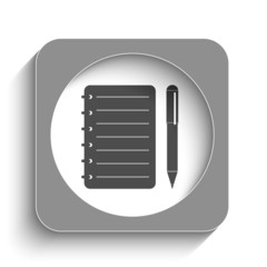 Spiral notebook web icon