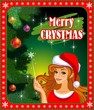 Christmas Santa beauty banner