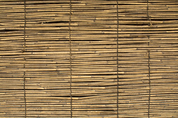 Close up detail view of a wicker