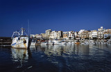 Italy, Marina di Camerota, fishing boats in the port