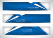 Web header, set of vector banner, design with precise dimension - 71889666