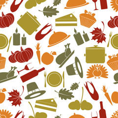 thanksgiving color seamless autumn pattern eps10