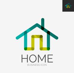 Minimal line design logo, home icon