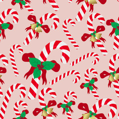 christmas red and white sweets stick seamless pattern eps10