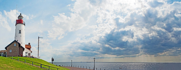 Lighthouse on former island Urk, The Netherlands