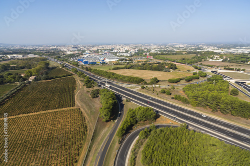 Deurstickers Autoroute - Montpellier