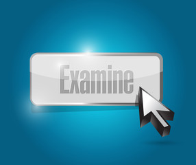 examine button illustration design