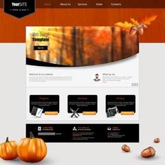 Autumn Theme Website Template
