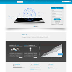 Blue Business Website Template