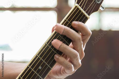 Leinwanddruck Bild Guitar effort