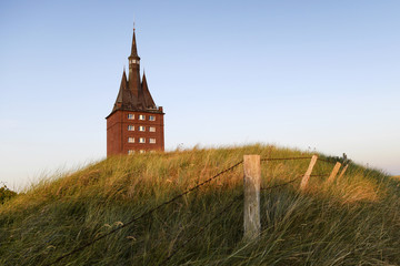 The west tower of the island of Wangerooge