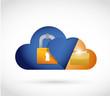 cloud computing lock and folder