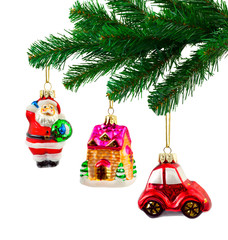 Christmas tree and toys