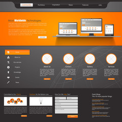 Modern Website Template Vector eps 10