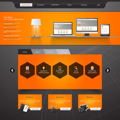 Modern Website Template Vector eps 10