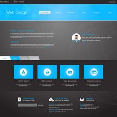 Business Website Template Design Eps 10