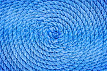 twisted into a spiral ship rope macro