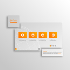 Minimal Website Template Design Eps 10