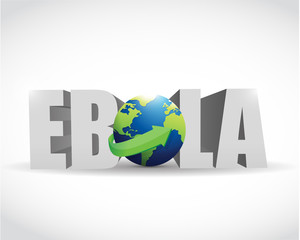 ebola globe sign illustration design