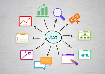 Seo diagram with  pictures