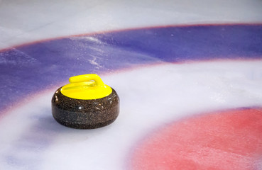 Curling Stone on Ice