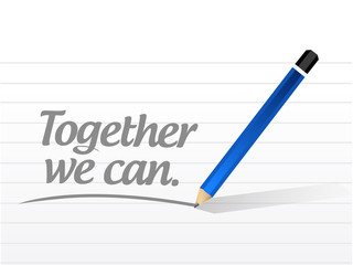 together we can message illustration