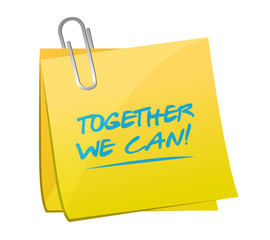 together we can memo post illustration