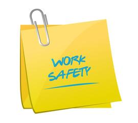 work safety memo post illustration