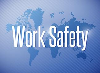 work safety sign illustration design