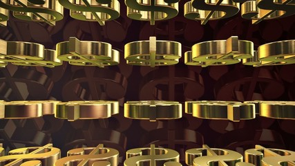 Abstract American dollar signs