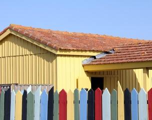 cabanes de pêcheurs sur l'île d'oléron